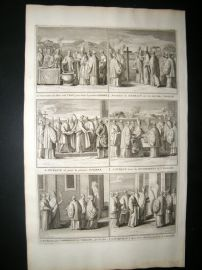 Picart C1730 Folio Antique Print. Religious Catholic 28